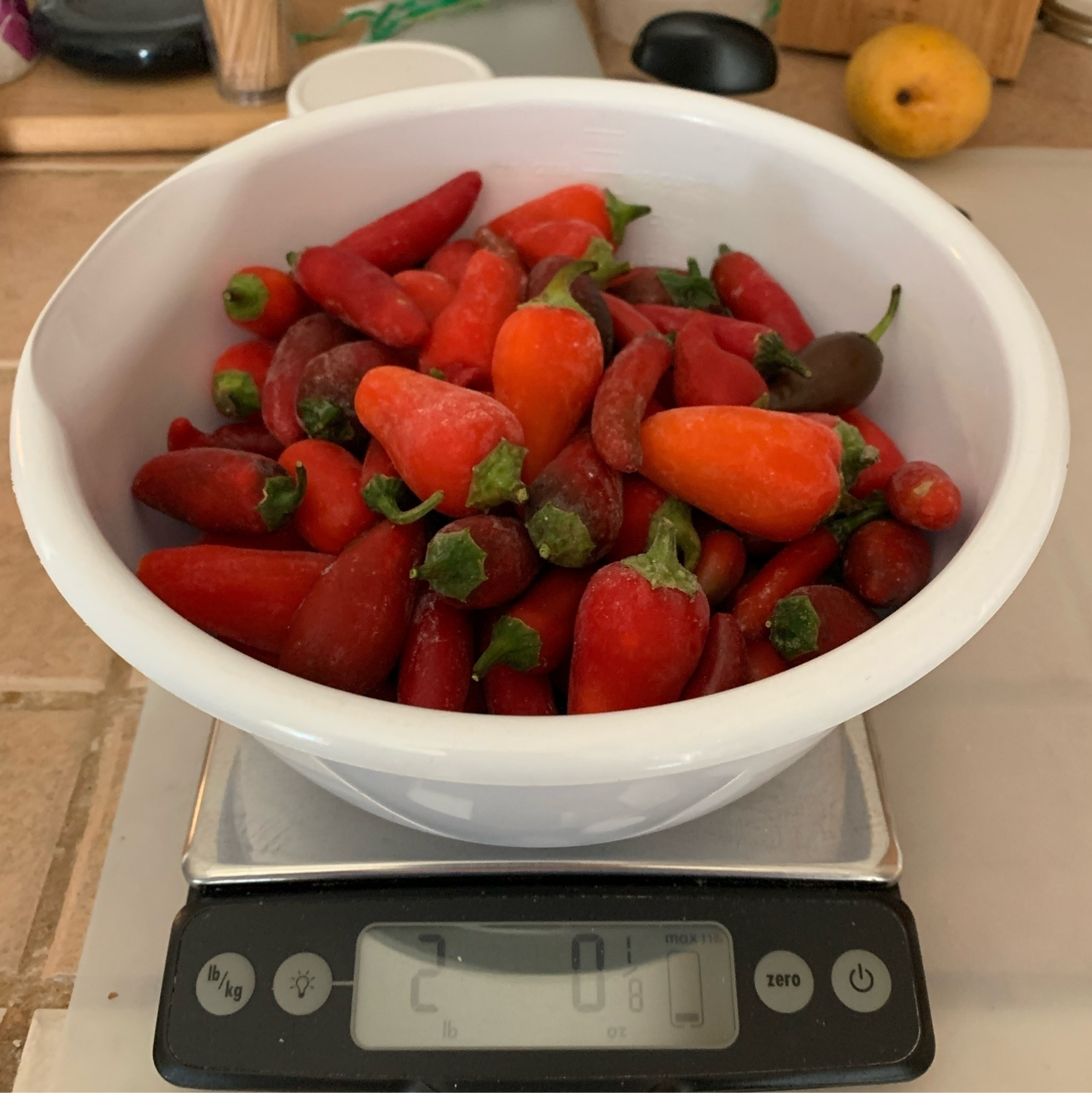 weighed peppers