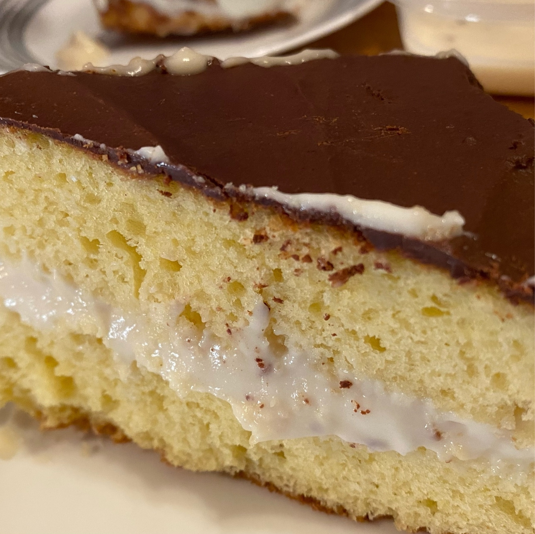 boston cream pie - yellow cake